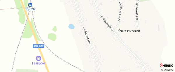 Улица Ахтямова на карте деревни Кантюковки с номерами домов
