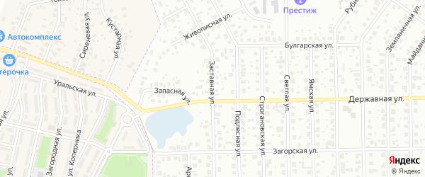 Заставная улица на карте Уфы с номерами домов