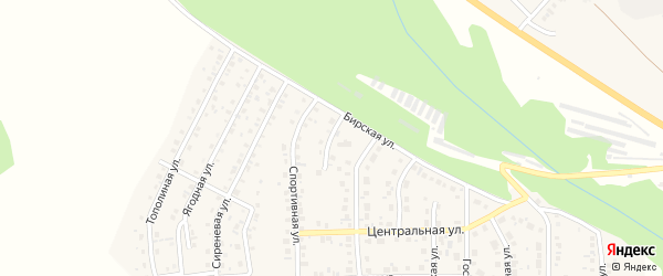 Вязовая улица на карте Благовещенска с номерами домов
