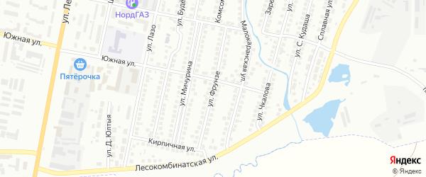 Улица Фрунзе на карте Мелеуза с номерами домов