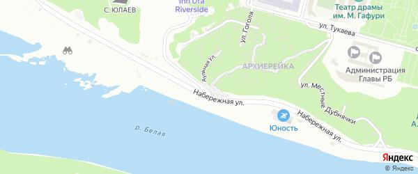 Аульная улица на карте Уфы с номерами домов