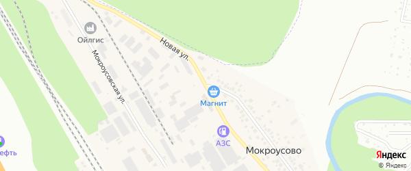 Мокроусовская улица на карте деревни Мокроусово с номерами домов