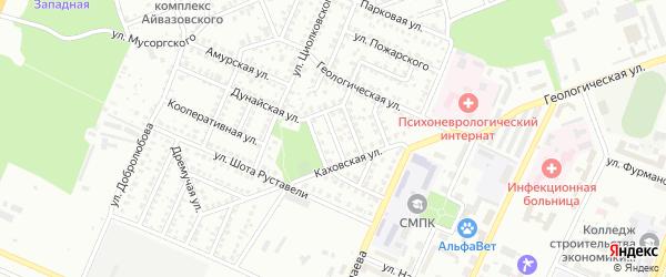 Каховский 3-й переулок на карте Стерлитамака с номерами домов