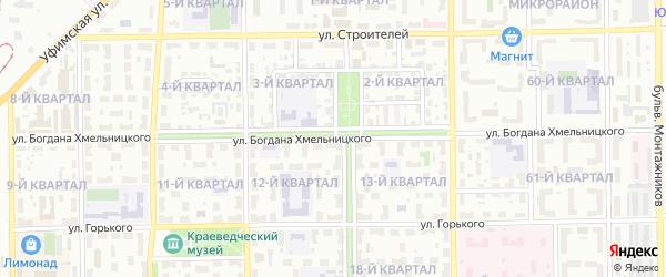 Улица Хмельницкого на карте Салавата с номерами домов