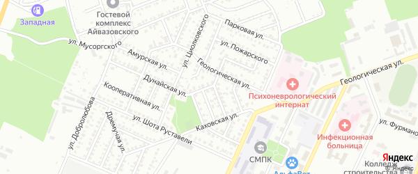 Волжская улица на карте Стерлитамака с номерами домов