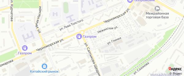 Белорусская улица на карте Стерлитамака с номерами домов