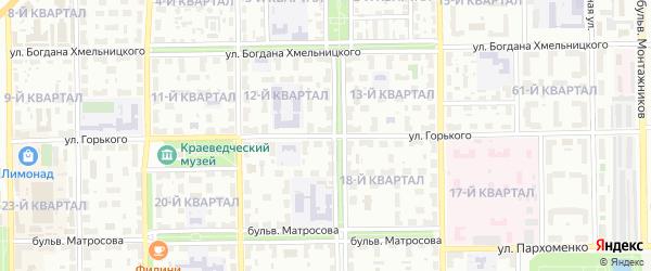 Улица Горького на карте Салавата с номерами домов