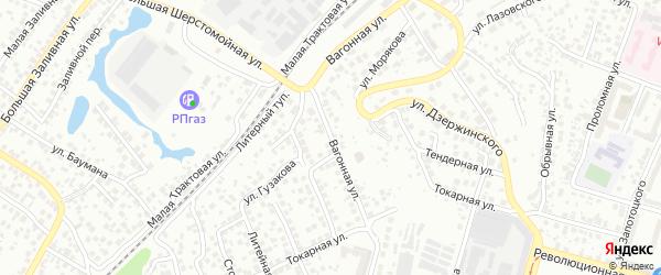 Вагонная улица на карте Уфы с номерами домов