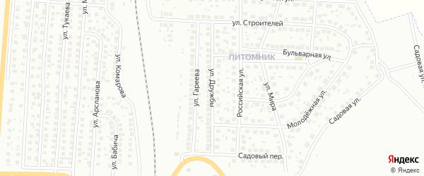 Улица Дружбы на карте Мелеуза с номерами домов