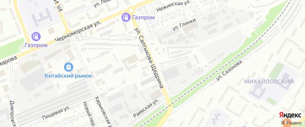 Улица Салтыкова-Щедрина на карте Стерлитамака с номерами домов