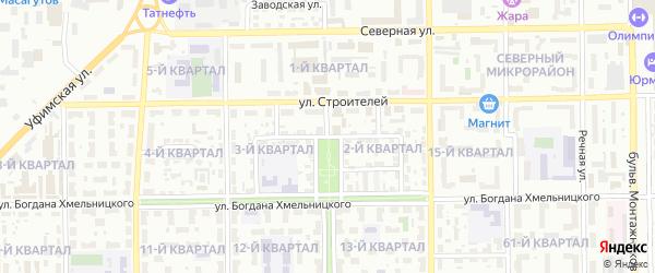 Стахановская улица на карте Салавата с номерами домов