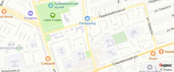Октябрьская улица на карте Мелеуза с номерами домов