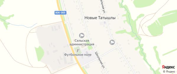 Школьная улица на карте села Новые Татышлы с номерами домов