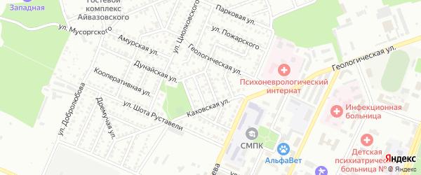 Каховский 2-й переулок на карте Стерлитамака с номерами домов