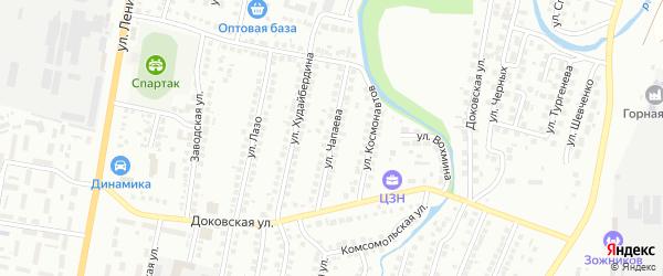 Улица Чапаева на карте Мелеуза с номерами домов