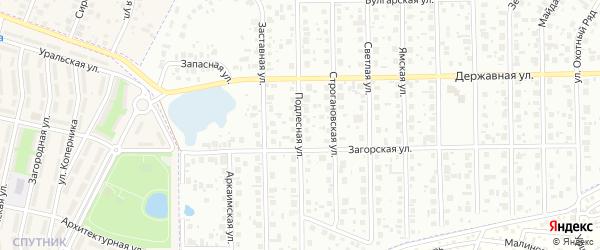 Подлесная улица на карте Уфы с номерами домов