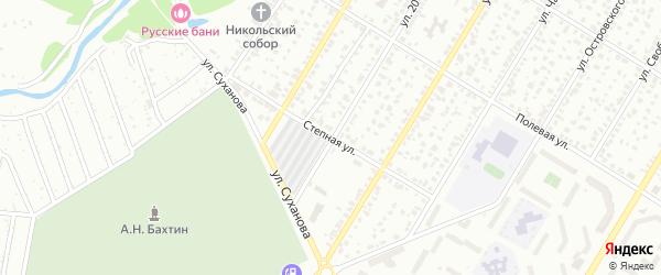 Степная улица на карте Стерлитамака с номерами домов
