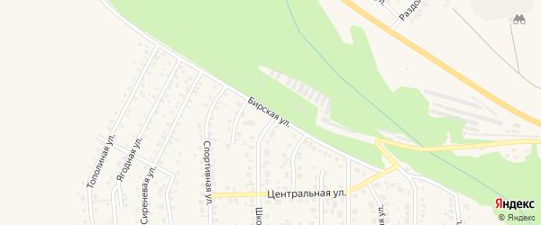 Бирская улица на карте Благовещенска с номерами домов