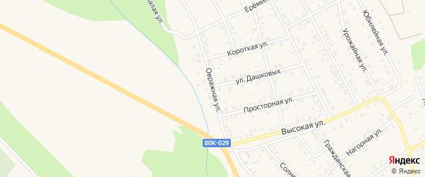 Овражная улица на карте Благовещенска с номерами домов