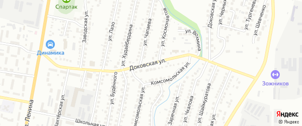 Доковская улица на карте Мелеуза с номерами домов