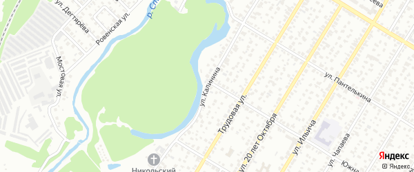 Улица Калинина на карте Стерлитамака с номерами домов