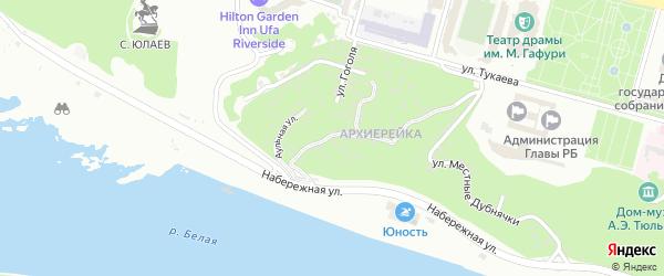 Средняя Республиканская улица на карте Уфы с номерами домов