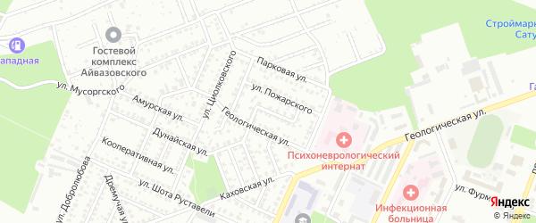 Улица Павлика Морозова на карте Стерлитамака с номерами домов