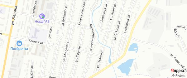 Малокаранская улица на карте Мелеуза с номерами домов
