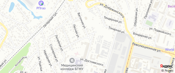 Токарная улица на карте Уфы с номерами домов