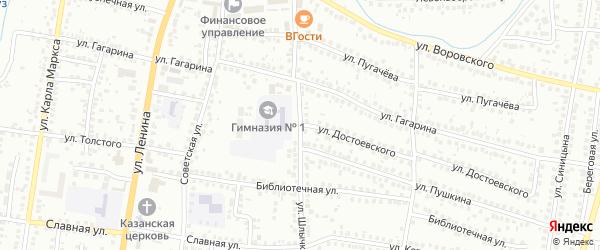 Улица Шлычкова на карте Мелеуза с номерами домов