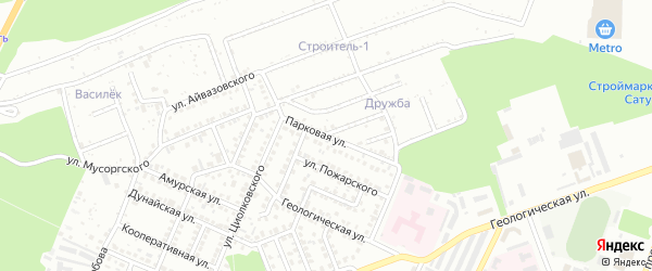 Парковая улица на карте Стерлитамака с номерами домов