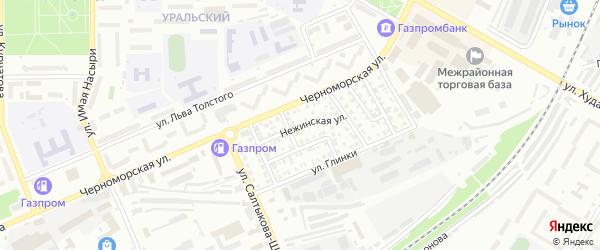 Нежинская улица на карте Стерлитамака с номерами домов