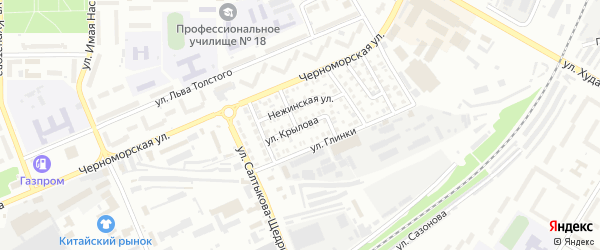 Улица Крылова на карте Стерлитамака с номерами домов