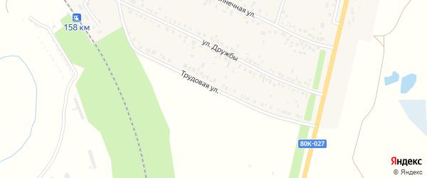Трудовая улица на карте деревни Покровки с номерами домов