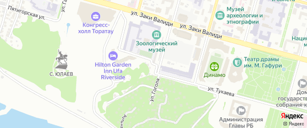 Тубинская улица на карте Уфы с номерами домов