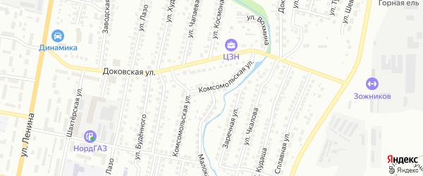 Комсомольская улица на карте Мелеуза с номерами домов
