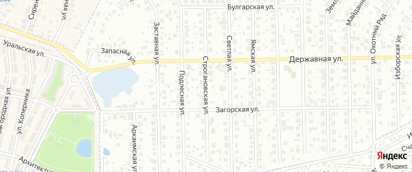 Строгановская улица на карте Уфы с номерами домов