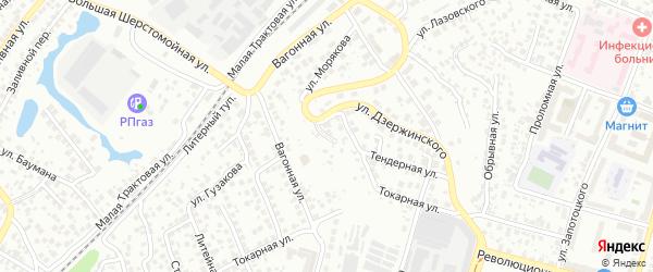 Украинская улица на карте Уфы с номерами домов