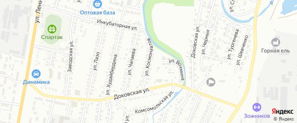 Улица Космонавтов на карте Мелеуза с номерами домов