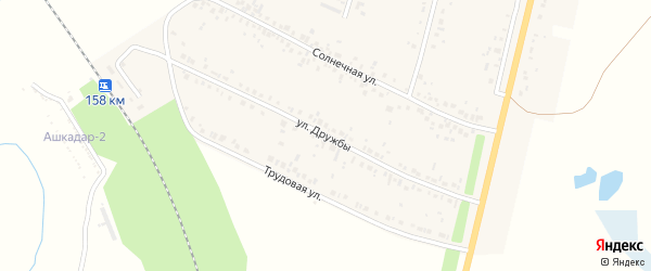 Улица Дружбы на карте деревни Покровки с номерами домов