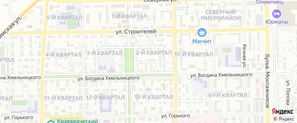 Волжская улица на карте Салавата с номерами домов