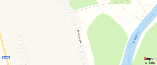 Бельская улица на карте села Иры с номерами домов
