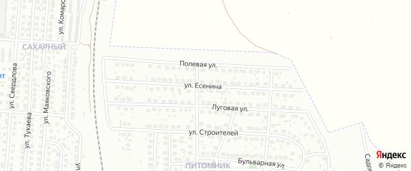 Улица Есенина на карте Мелеуза с номерами домов