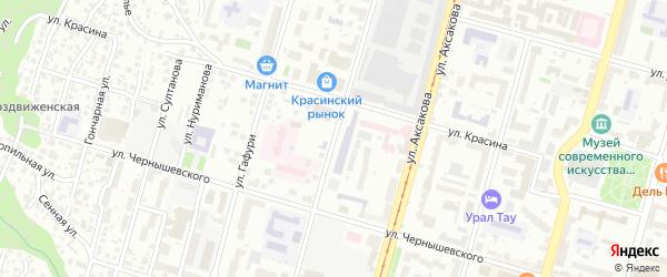 Улица Зенцова на карте Уфы с номерами домов