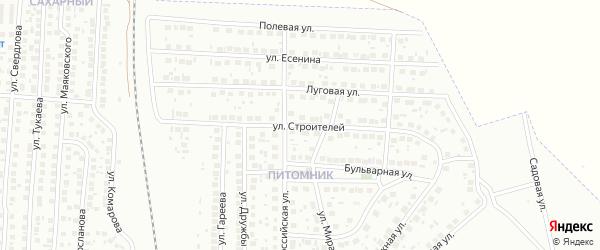 Улица Строителей на карте Мелеуза с номерами домов