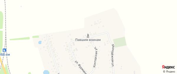 Школьная улица на карте деревни Кантюковки с номерами домов