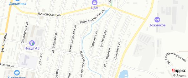 Заречная улица на карте Мелеуза с номерами домов