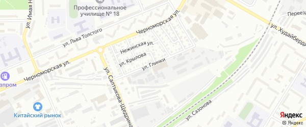 Улица Глинки на карте Стерлитамака с номерами домов
