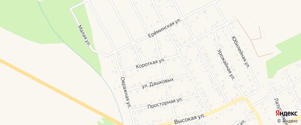 Короткая улица на карте Благовещенска с номерами домов