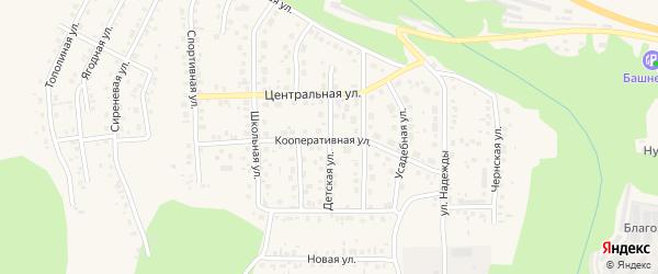 Детская улица на карте Благовещенска с номерами домов
